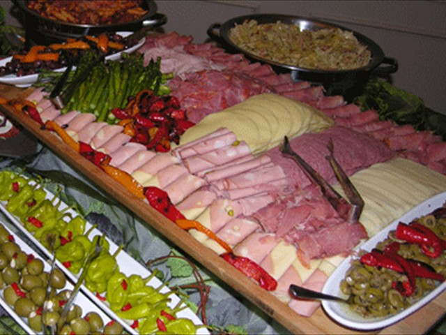 Tuscan meat and cheese antipasti display
